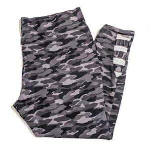 MIXIT Grey Camo Ankle Cutout Leggings 3X